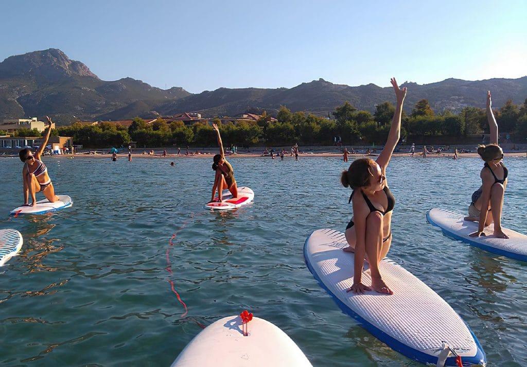 faire du yoga paddle