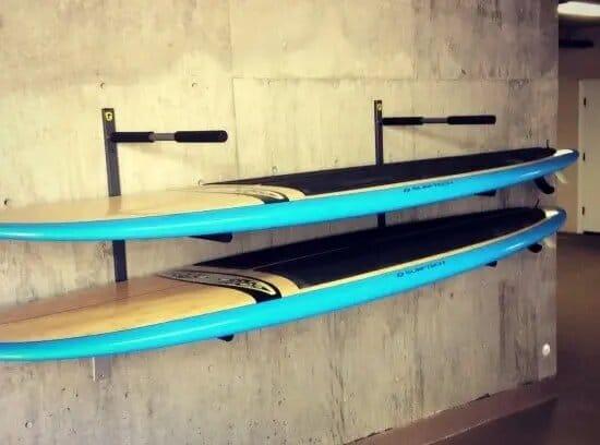 rangement ideal d'un paddle board